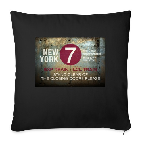 NYC subway stand clear of the closing doors please - Sofa pillowcase 17,3'' x 17,3'' (45 x 45 cm)
