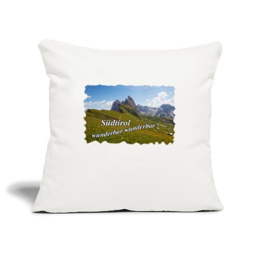 Südtirol - wunderbar wanderbar - Sofakissenbezug 44 x 44 cm