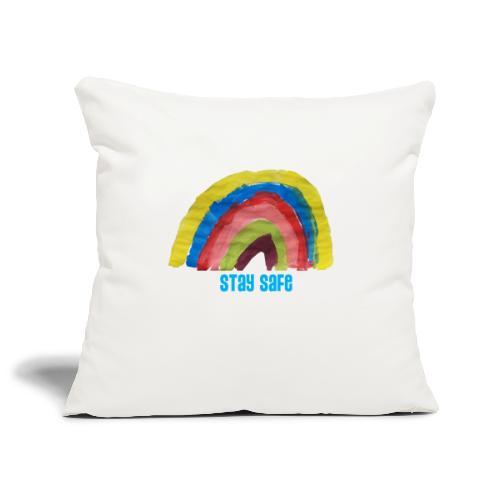 Stay Safe Rainbow Tshirt - Sofa pillowcase 17,3'' x 17,3'' (45 x 45 cm)