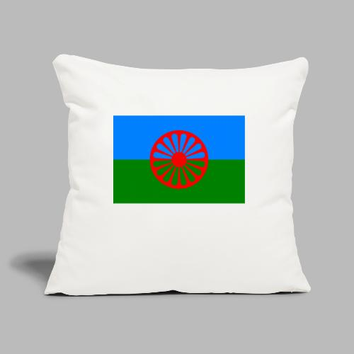 Flag of the Romani people - Soffkuddsöverdrag, 45 x 45 cm
