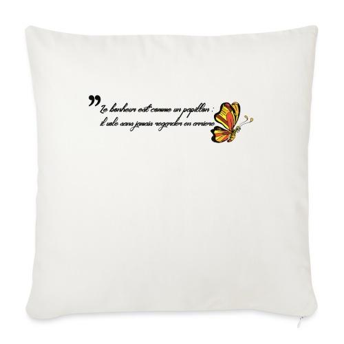 Papillon de bonheur - Housse de coussin décorative 45x 45cm