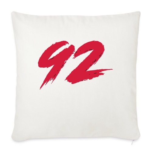 92 Logo 1 - Sofakissenbezug 44 x 44 cm