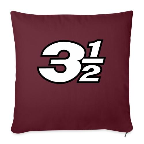 Three and a Half Logo - Sofa pillowcase 17,3'' x 17,3'' (45 x 45 cm)