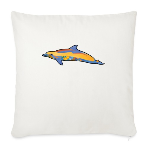 Colorful dolphin - Sofa pillowcase 17,3'' x 17,3'' (45 x 45 cm)