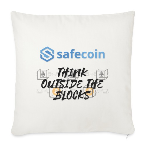 SafeCoin; Think Outside the Blocks (black + blue) - Sofa pillowcase 17,3'' x 17,3'' (45 x 45 cm)
