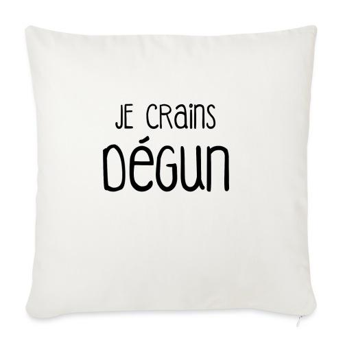 Humour Citation Marseille JE CRAINS DEGUN  - Housse de coussin décorative 45x 45cm