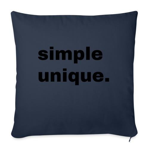 simple unique. Geschenk Idee Simple - Sofakissenbezug 44 x 44 cm