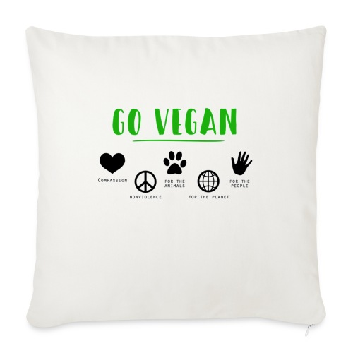 Go vegan - Housse de coussin décorative 45x 45cm