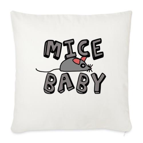 mice mice baby - ice ice baby - Sofakissenbezug 44 x 44 cm