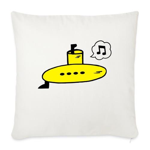 Singing Yellow Submarine - Sofa pillowcase 17,3'' x 17,3'' (45 x 45 cm)