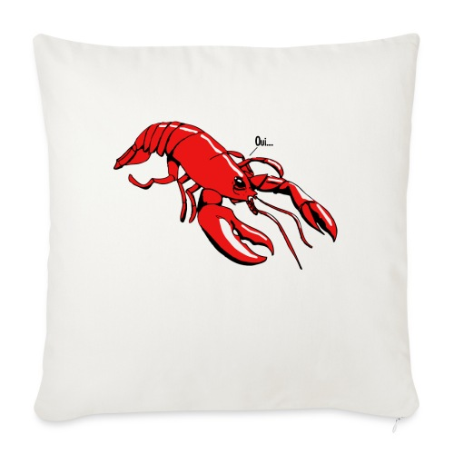 Lobster - Sofa pillowcase 17,3'' x 17,3'' (45 x 45 cm)