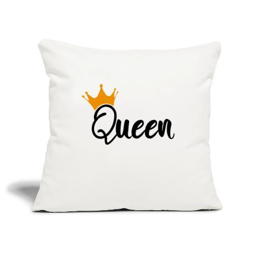 Queen / Reine - Housse de coussin décorative 45x 45cm