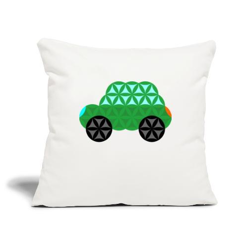 The Car Of Life - M01, Sacred Shapes, Green/363 - Sofa pillowcase 17,3'' x 17,3'' (45 x 45 cm)