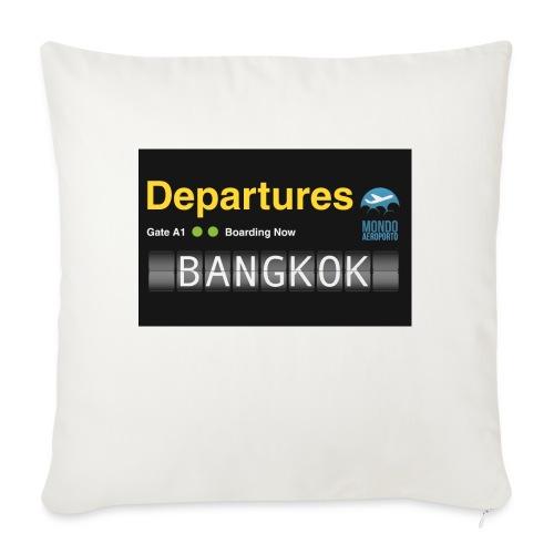 Departures BANGKOK jpg - Copricuscino per divano, 45 x 45 cm