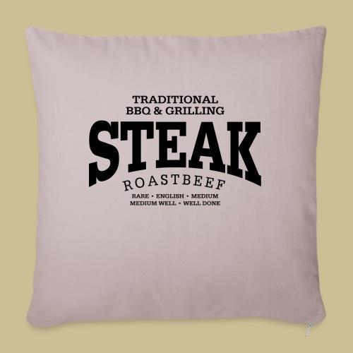 Steak (black) - Sofakissenbezug 44 x 44 cm