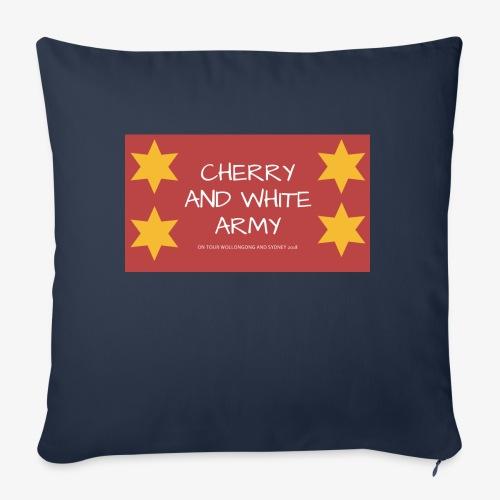 CHERRY AND WHITE ARMY NSW TOUR 2018 - Sofa pillowcase 17,3'' x 17,3'' (45 x 45 cm)