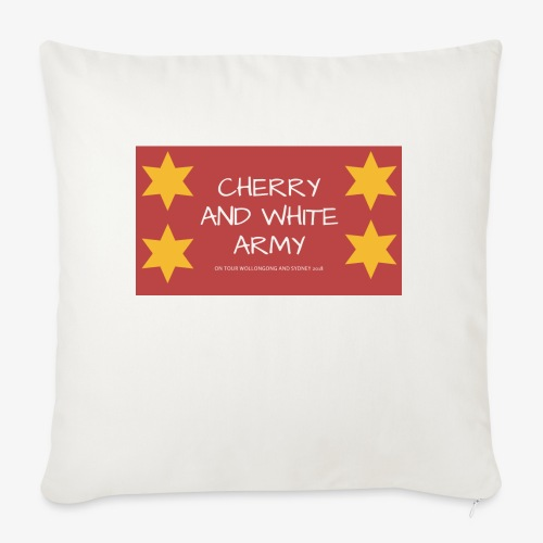 CHERRY AND WHITE ARMY NSW TOUR 2018 - Sofa pillowcase 17,3'' x 17,3'' (45 x 45 cm)