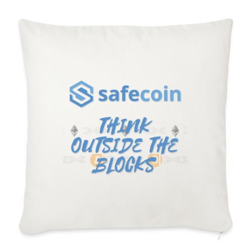 SafeCoin; think outside the blocks (blue) - Sofa pillowcase 17,3'' x 17,3'' (45 x 45 cm)