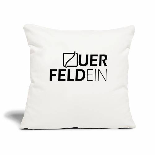 Querfeldein Logo - Sofakissenbezug 44 x 44 cm