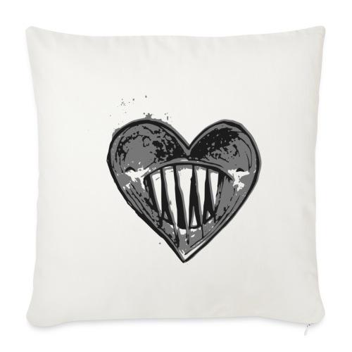 Corazón Negro - Funda de cojín, 45 x 45 cm