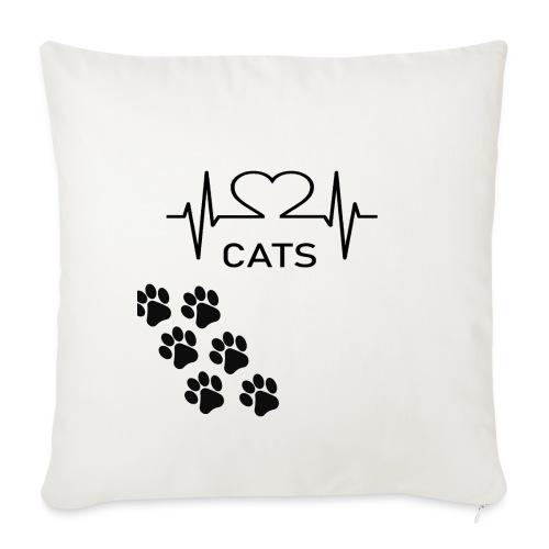 Design für Katzenbesitzer. - Sofakissenbezug 44 x 44 cm