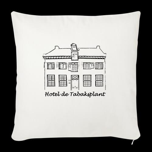 Hotel de Tabaksplant (zwart) - Sierkussenhoes, 45 x 45 cm