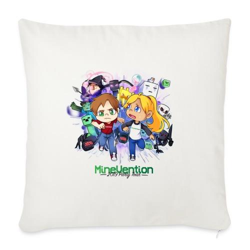 MineVention 2019 Party Tour - Sofa pillowcase 17,3'' x 17,3'' (45 x 45 cm)