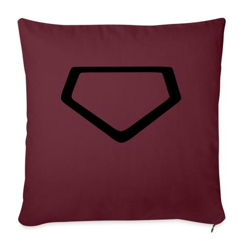 Baseball Homeplate Outline - Sofa pillowcase 17,3'' x 17,3'' (45 x 45 cm)