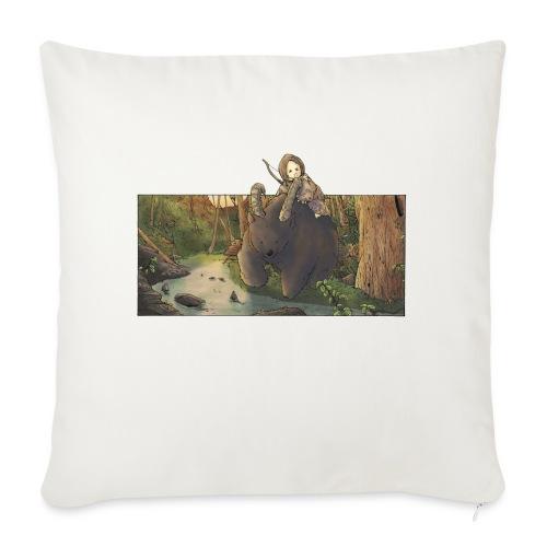 Orso e bambina - Wandering Claw - Copricuscino per divano, 45 x 45 cm