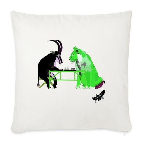 Playing Senet by BlackenedMoonArts, green w. logo - Pudebetræk 45 x 45 cm
