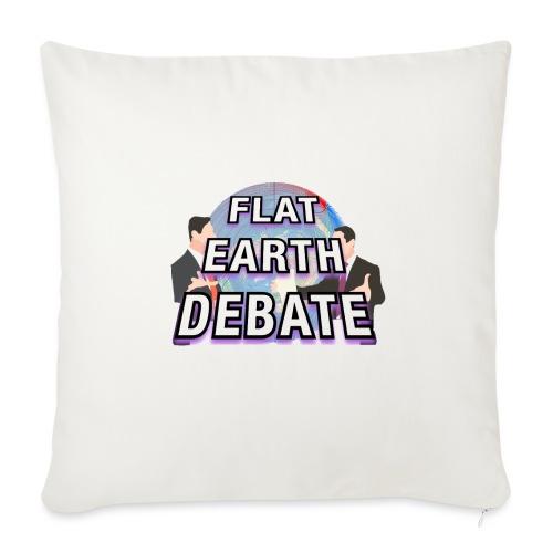 Flat Earth Debate Solid - Sofa pillowcase 17,3'' x 17,3'' (45 x 45 cm)