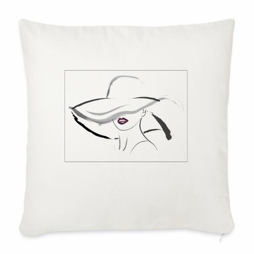 Hat lady - Funda de cojín, 45 x 45 cm