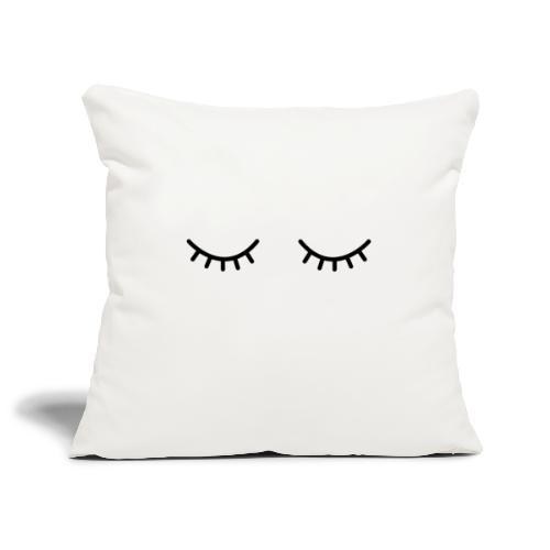 Occhi chiusi - Copricuscino per divano, 45 x 45 cm