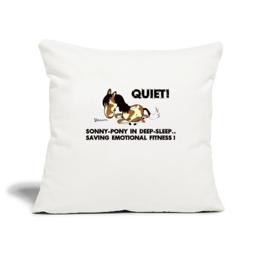 QUIET Sonny Pony in deep sleep - Sofakissenbezug 44 x 44 cm