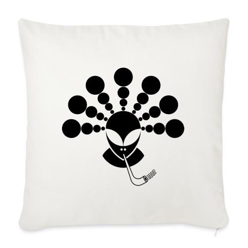 The Smoking Alien Black - Sofa pillowcase 17,3'' x 17,3'' (45 x 45 cm)