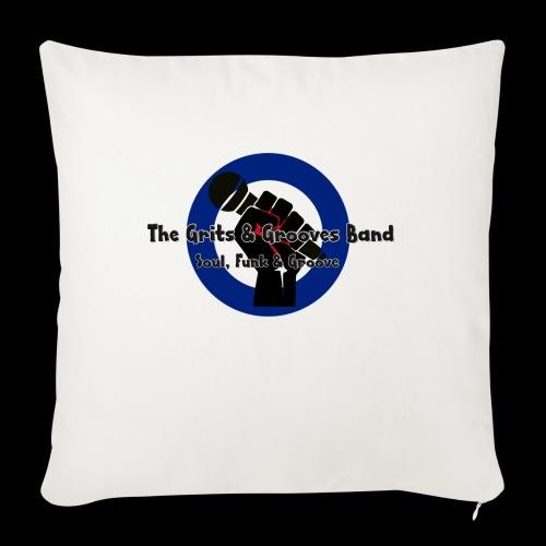 Grits & Grooves Band - Sofa pillowcase 17,3'' x 17,3'' (45 x 45 cm)