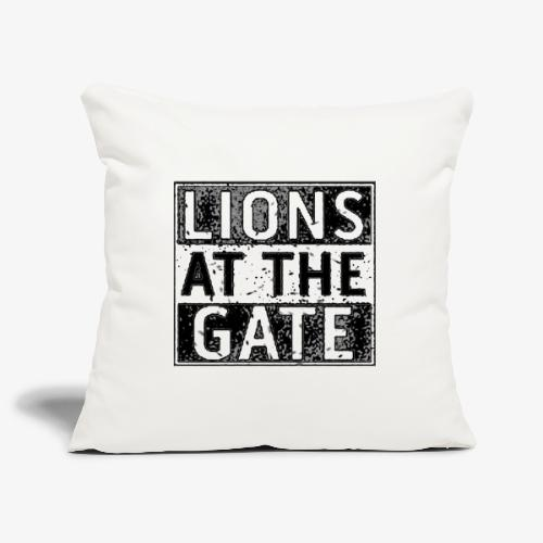LIONS AT THE GATE BAND LOGO - Sierkussenhoes, 45 x 45 cm