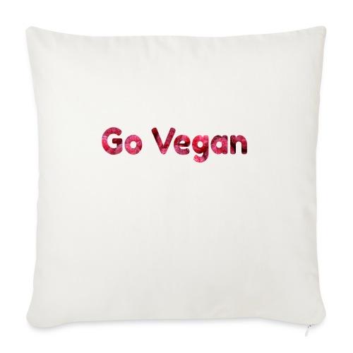 Go Vegan - motif Framboises - Housse de coussin décorative 45x 45cm