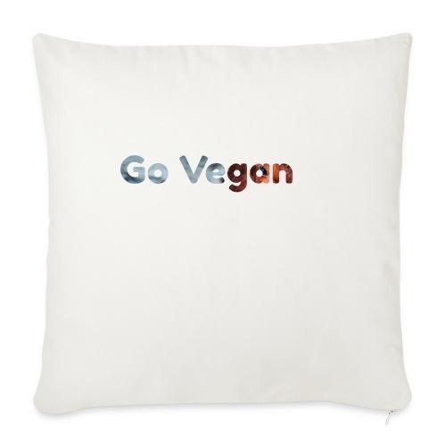 Go Vegan - motif Animal - Housse de coussin décorative 45x 45cm