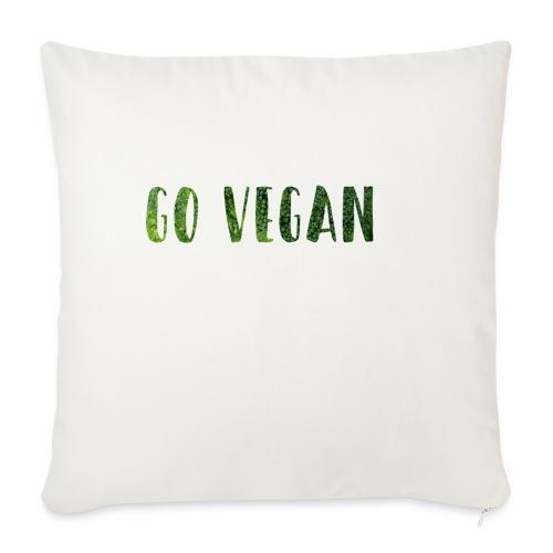 Go Vegan - motif Végé - Housse de coussin décorative 45x 45cm