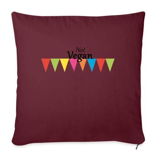 Not Vegan - Sofa pillowcase 17,3'' x 17,3'' (45 x 45 cm)
