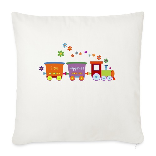 Eisenbahn Kinderspielzeug Zug Frühlingsblumen bunt - Sofa pillowcase 17,3'' x 17,3'' (45 x 45 cm)
