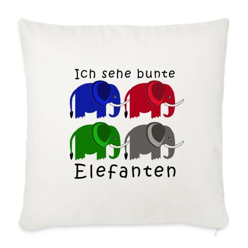 Vier Elefanten (Grafik) - Sofakissenbezug 44 x 44 cm