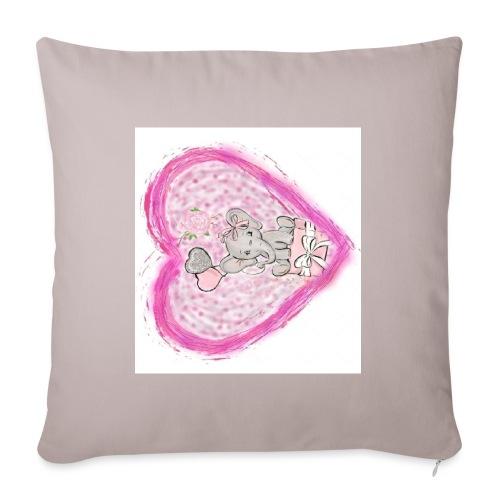 Your-Child pink heart - Pudebetræk 45 x 45 cm