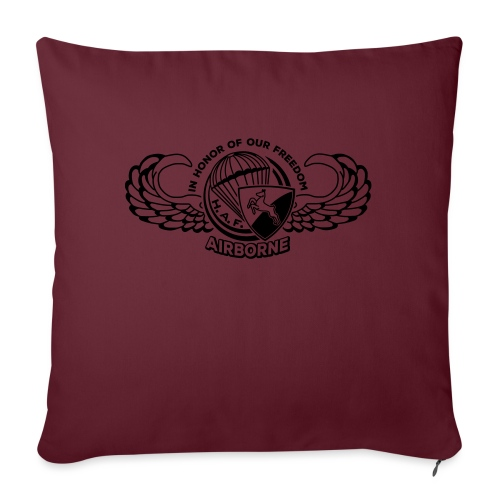 HAF tshirt back2015 - Sofa pillowcase 17,3'' x 17,3'' (45 x 45 cm)