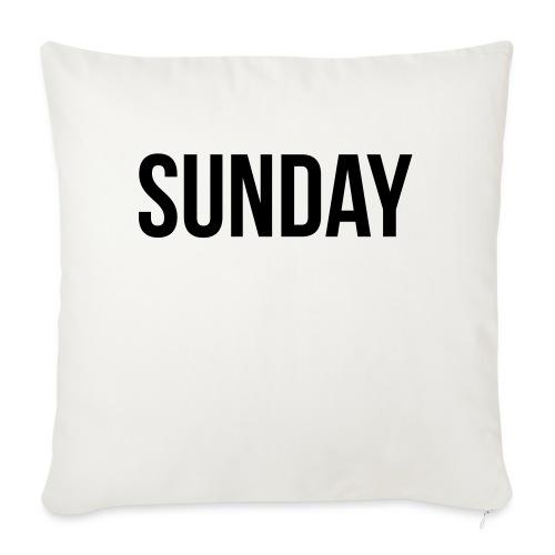 Sunday - Sofa pillowcase 17,3'' x 17,3'' (45 x 45 cm)