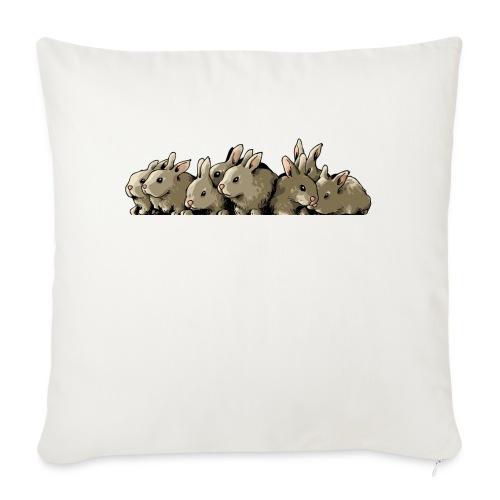 Lapins gris - Housse de coussin décorative 45x 45cm