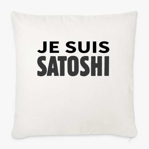 HODL-jesuis-b - Sofa pillowcase 17,3'' x 17,3'' (45 x 45 cm)