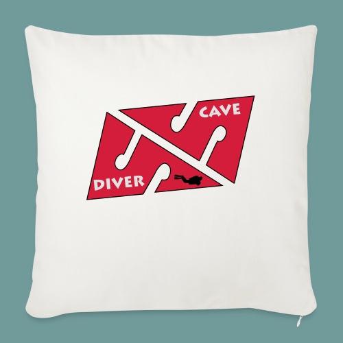 cave_diver_01 - Housse de coussin décorative 45x 45cm