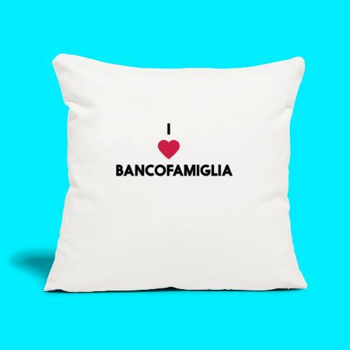 BANCOFAMIGLIA CuoreNera - Copricuscino per divano, 45 x 45 cm